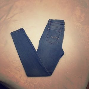 7 for all mankind skinny high waist jean size 26